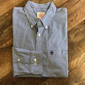 Brooks Bros Red Fleece Plaid Gingham Button Down